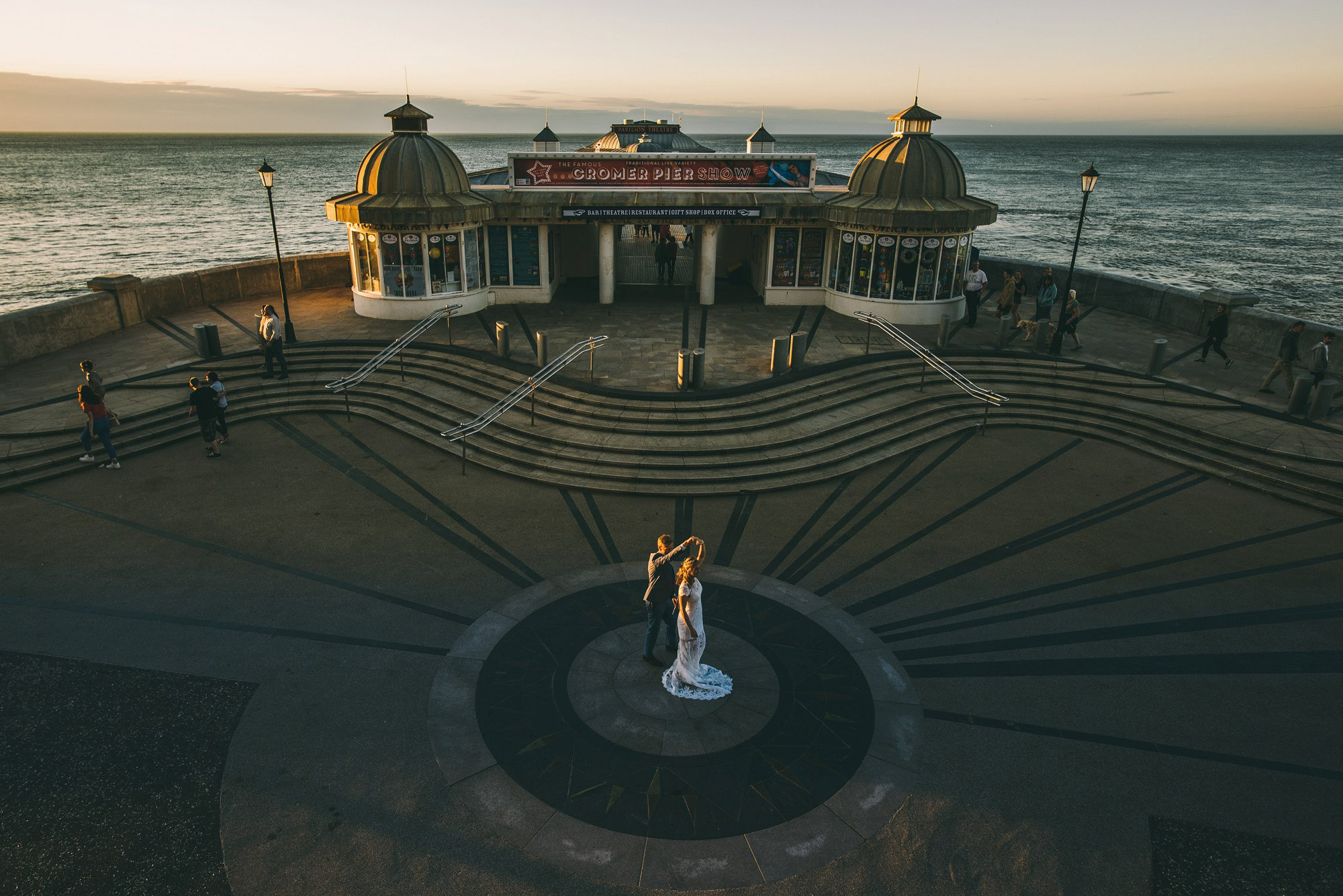 Couple on Cromer Pier
