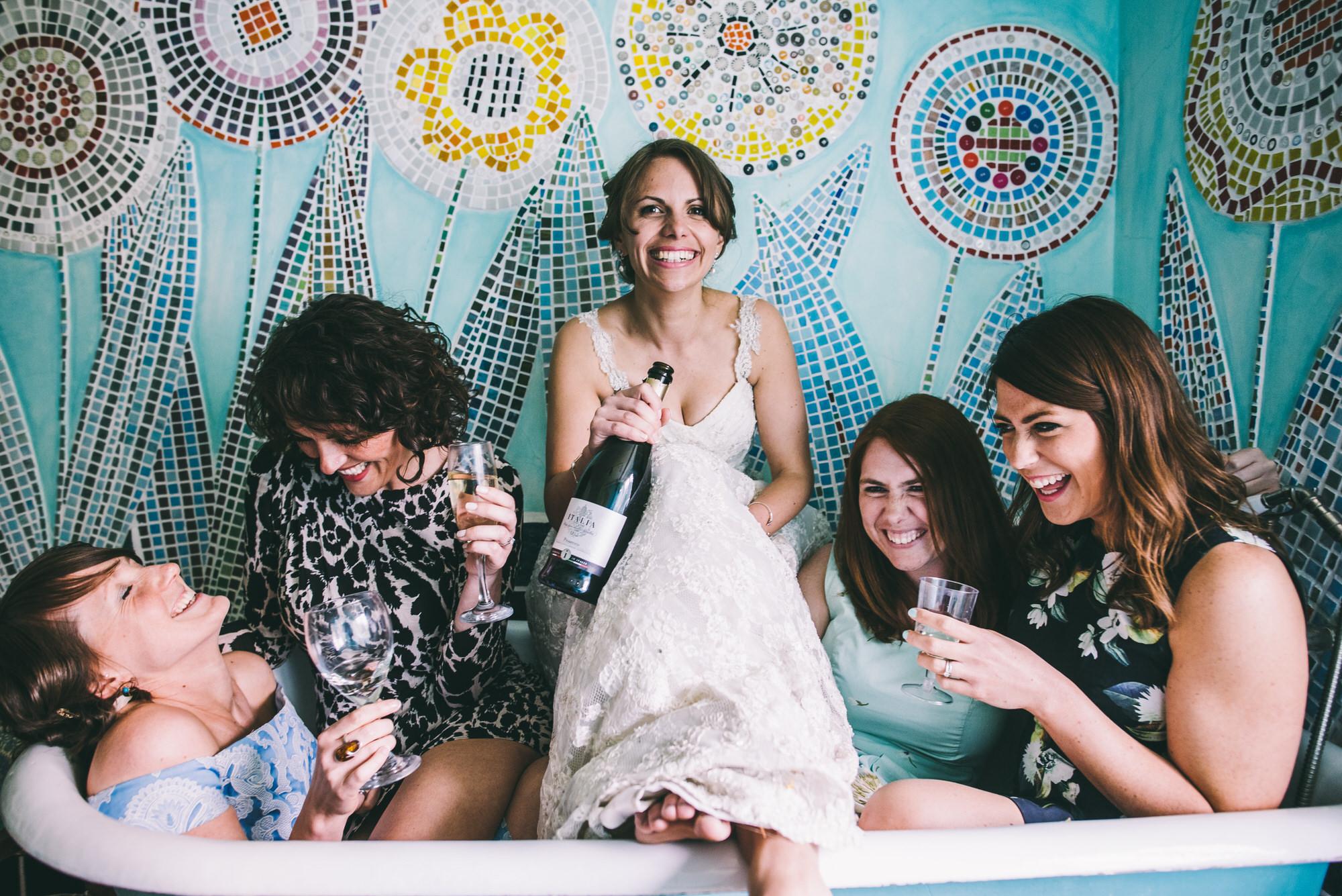 Bridemaids in Bath at Voewood