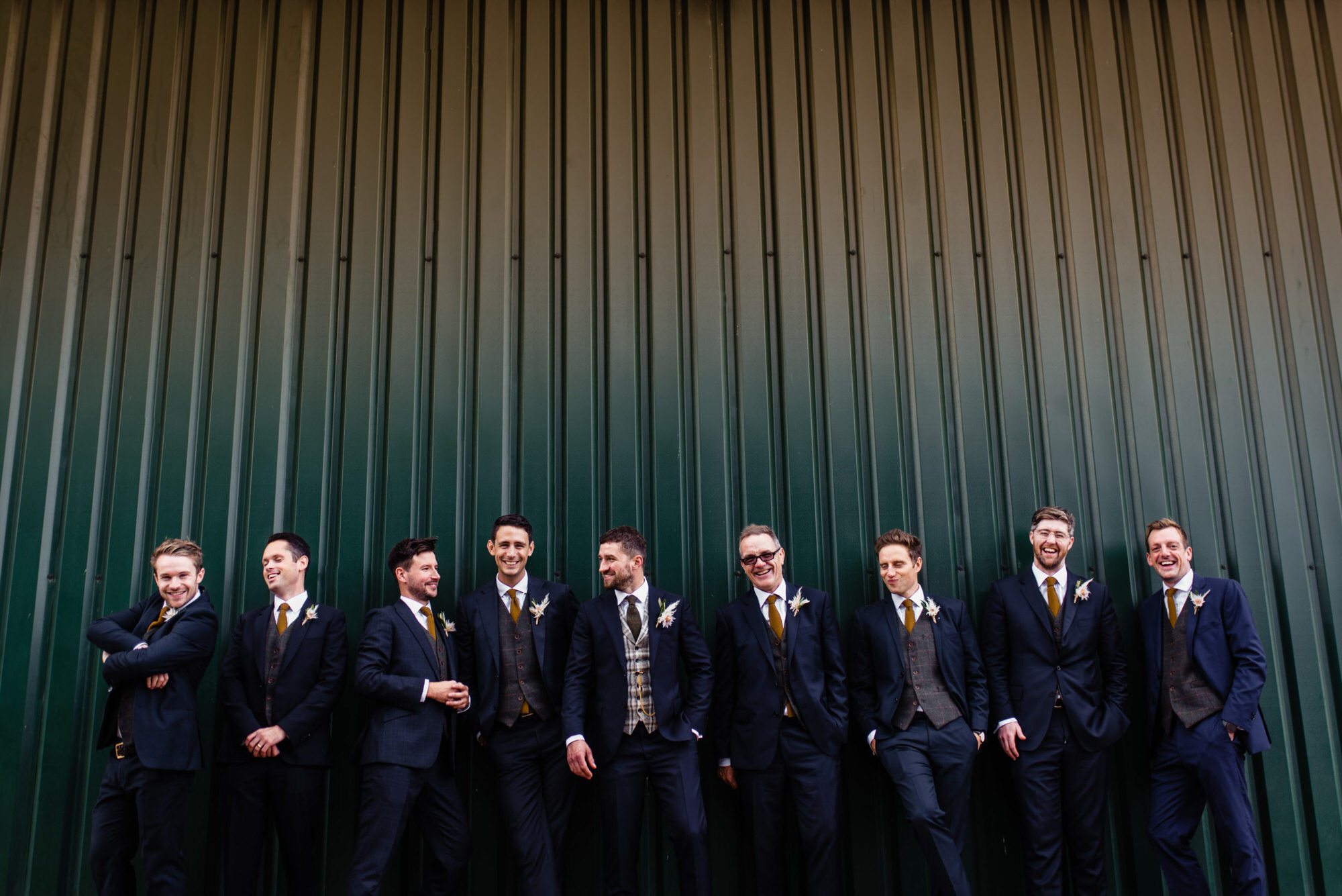 Groomsmen at Godwick Hall