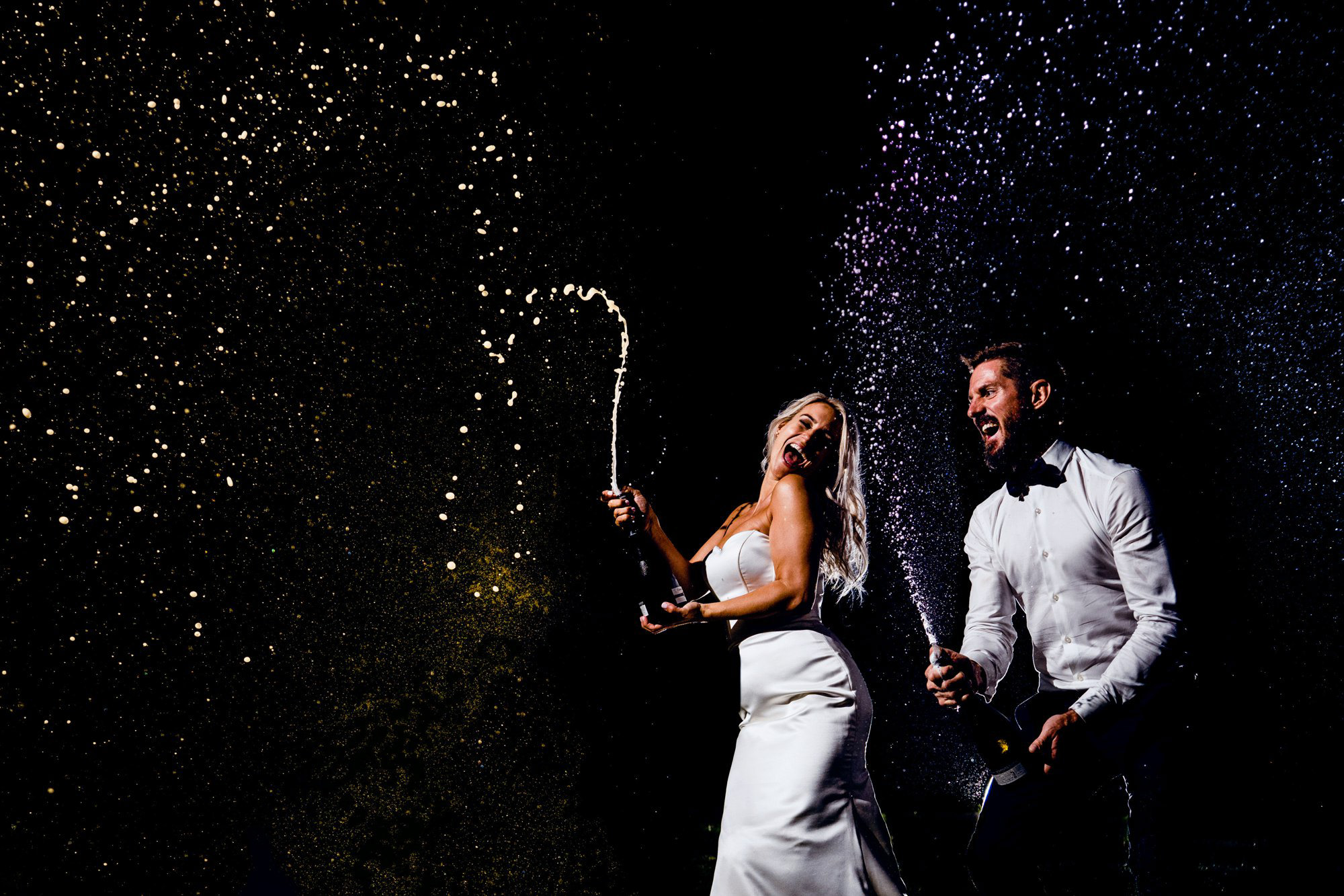 Champagne wedding celebration