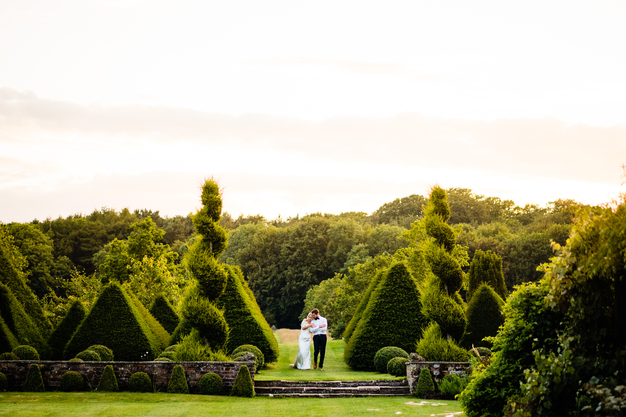 Bride and Groom at Chaucer Barn