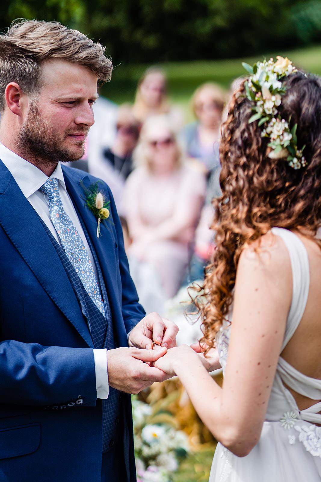 Exchange of Rings Wedding Photo