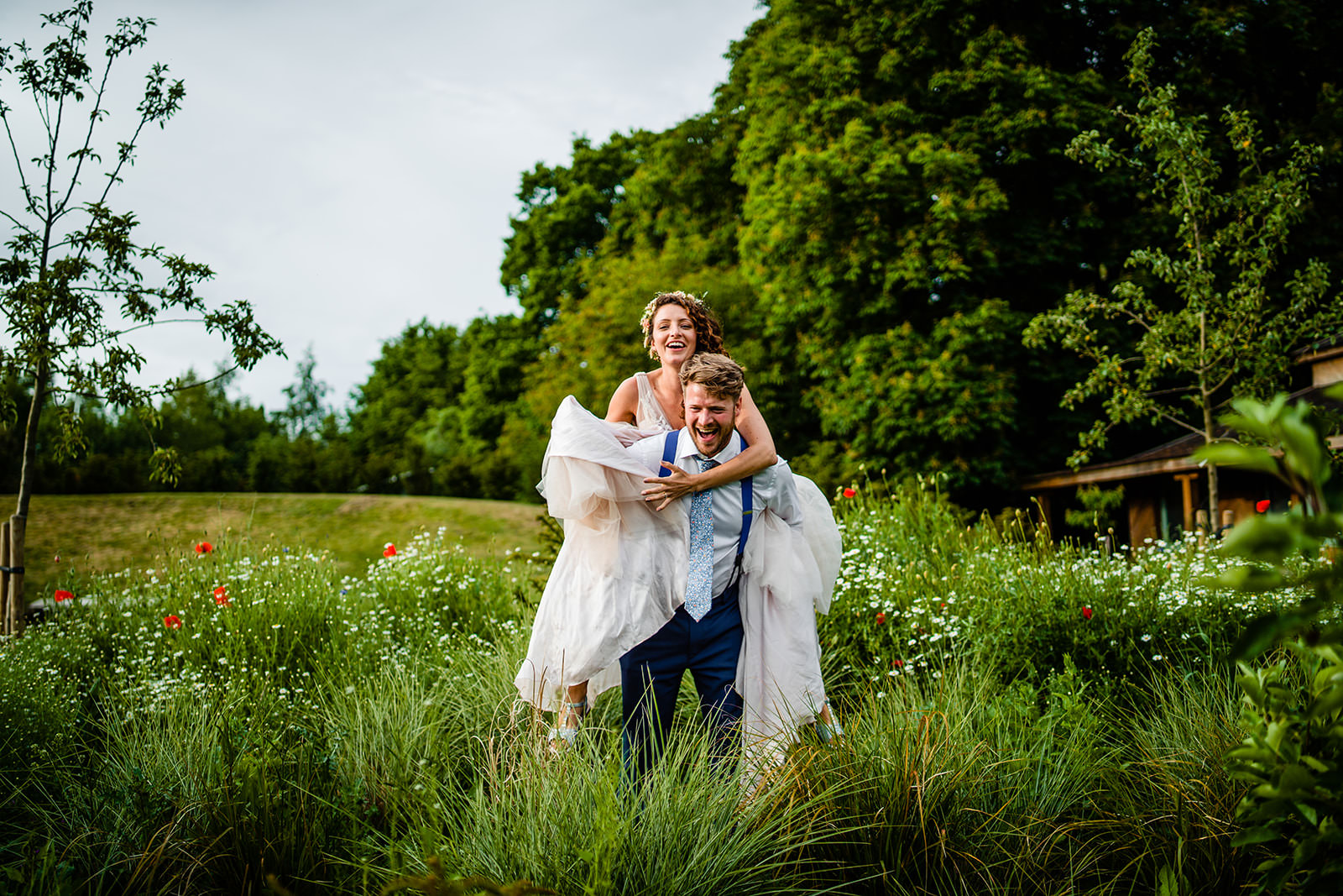 Bride and Groom At West Lexham Manor